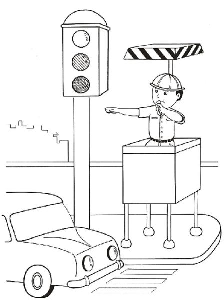 Dibujos Para Colorear Sobre Prevencion De Accidentes En La