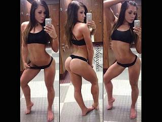 Conhecida por compartilhar fotos do seu bumbum, Jen Selter desenvolveu uma nova mania. A gata agora só quer fotografar a sua nova barriga de tanquinho que vem conquistando cada dia mais com os treinos, Jen sempre foi magrinha, mas nunca esteve tão sarada como atualmente. Jen sempre compartilha com seus seguidores fotos do seu corpo e dos seus treinamentos.