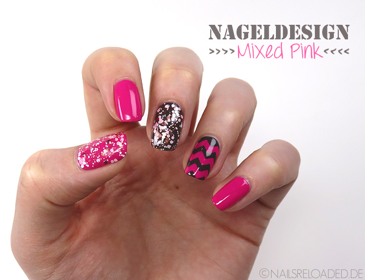 nails reloaded nageldesign mixed pink. Black Bedroom Furniture Sets. Home Design Ideas