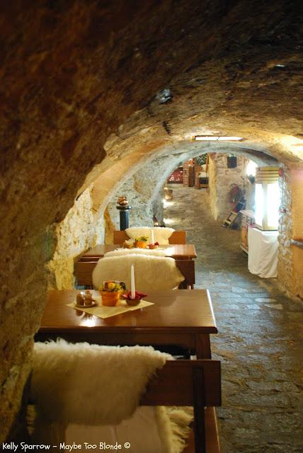Catacomb restaurant Cesky Krumlov