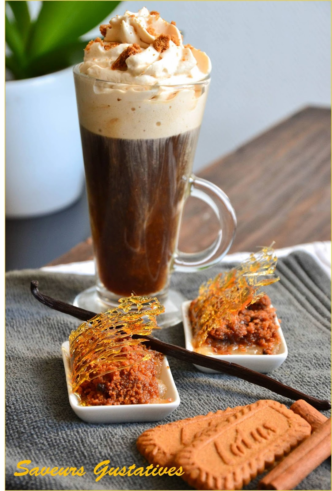café viennois à la chantilly de spéculoos