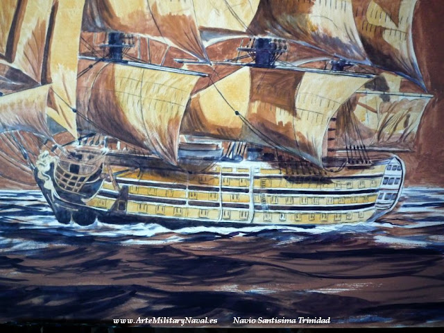 Pintura del navío Santísima Trinidad 4
