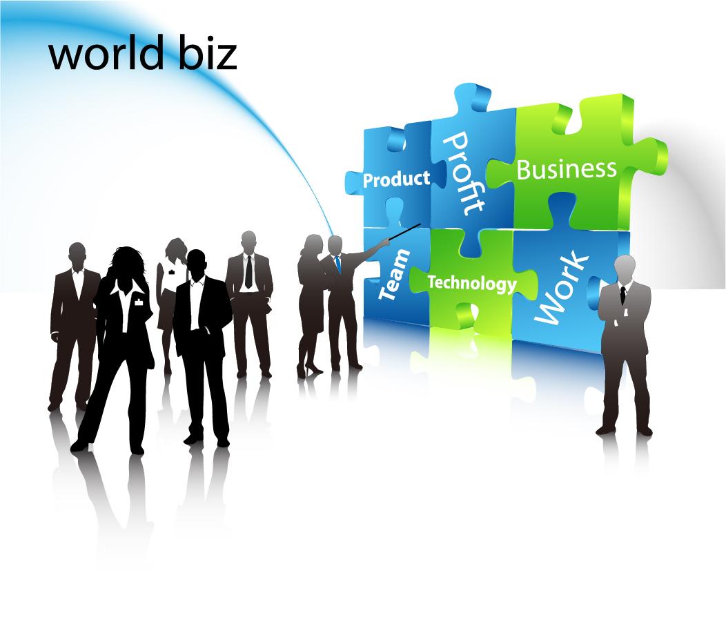 ビジネスシーンの背景 business elite vector イラスト素材1