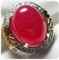 Batu Akik Giok Merah Kristal