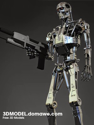 T 800 Terminator Free Design Elements: Terminator T-800 - Free 3D Model