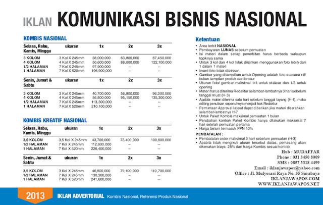Jawa Pos Iklan Komunikasi Bisnis Nasional 2013