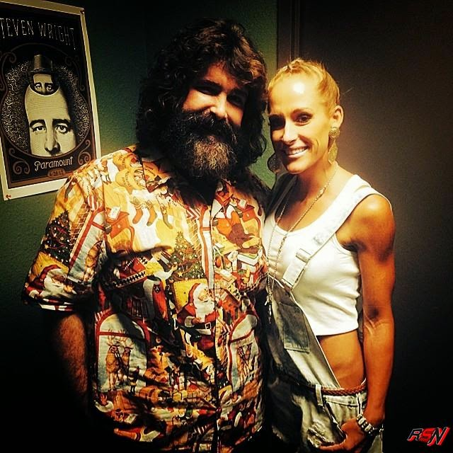 Michelle McCool Hanging Out with Mick Foley.