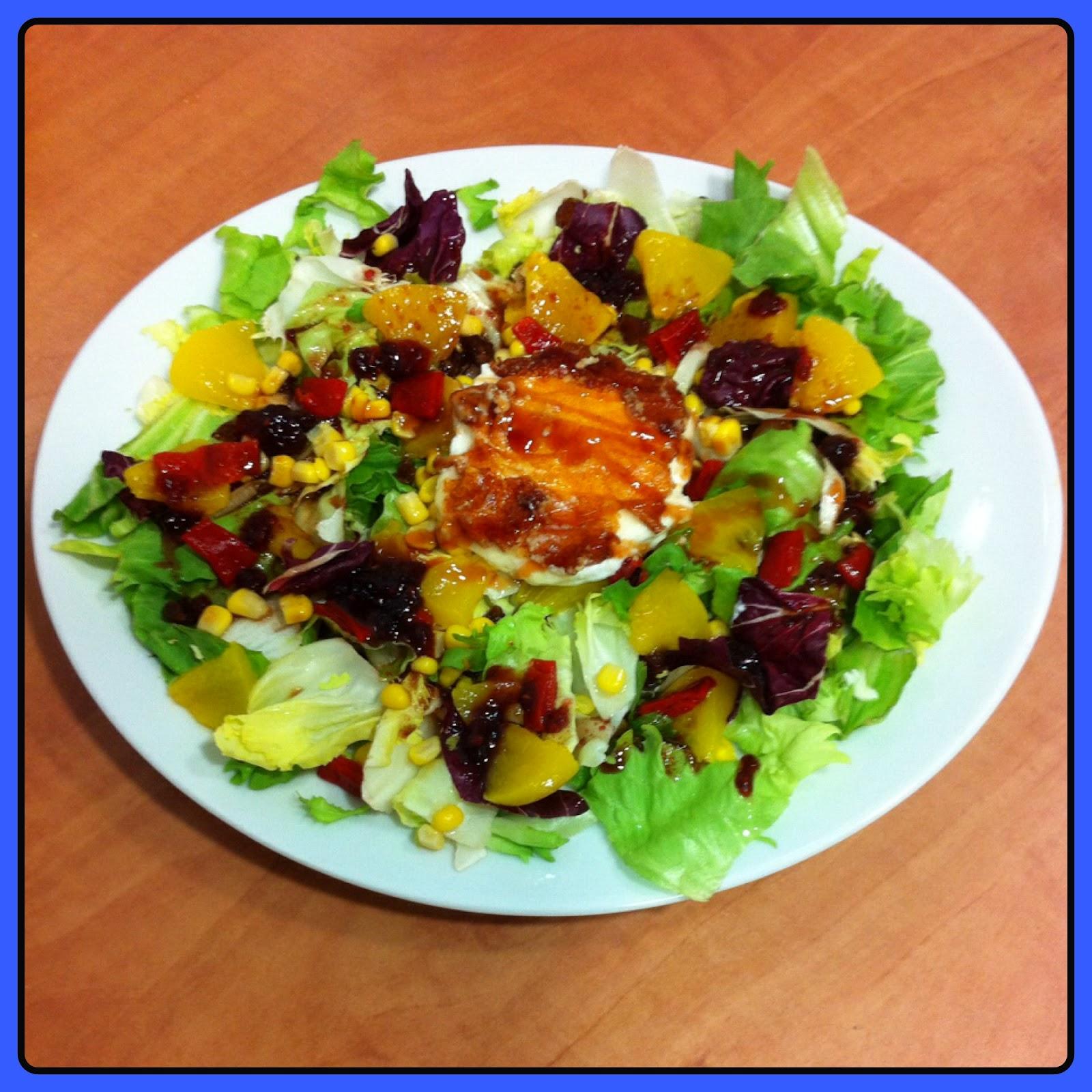 Las cocinitas de roc o ensalada de queso de cabra con - Queso de cabra y colesterol ...