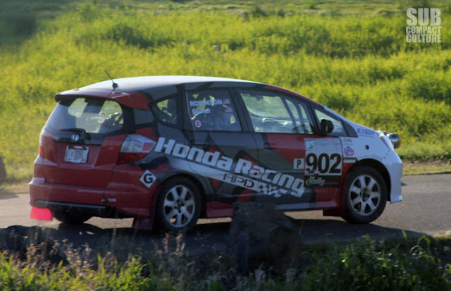 Honda Fit Rally car at 2013 Oregon Trail Rally