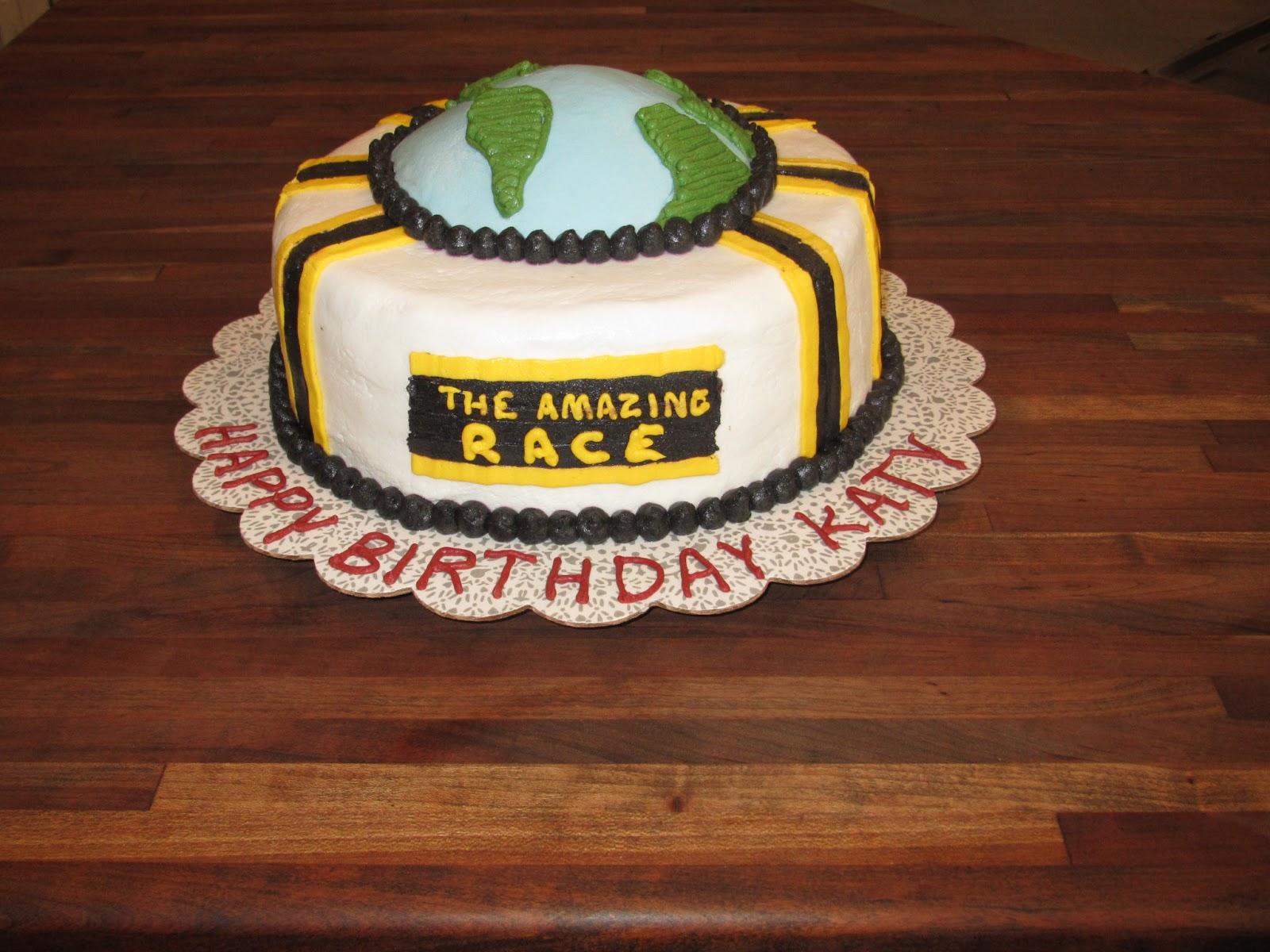 amazing race cake images