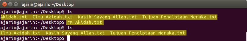 Manajemen File dan Direktori Linux - rm
