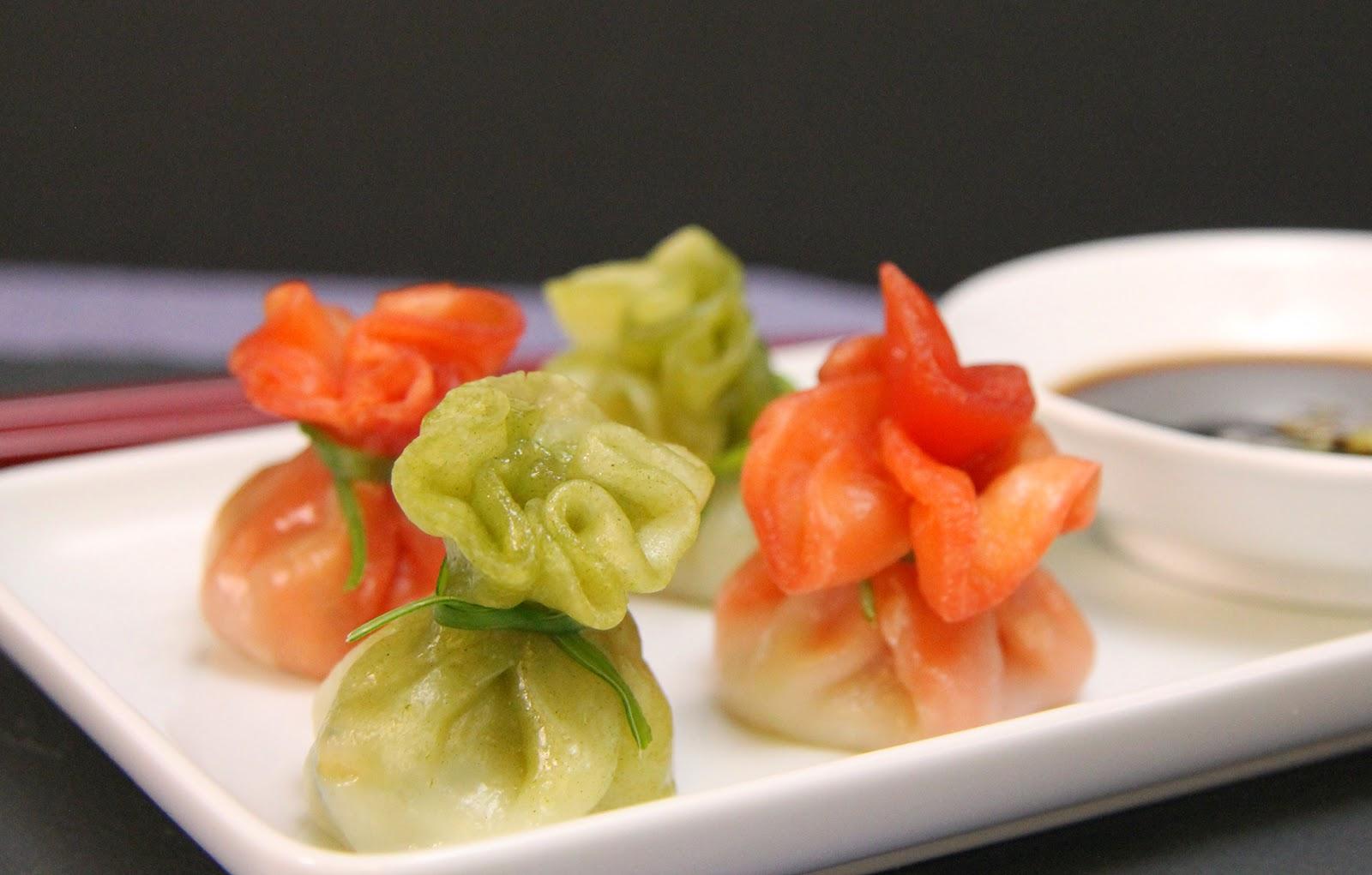 har gow, chicken dumpling, spinach dumpling, green dumpling, dim sum
