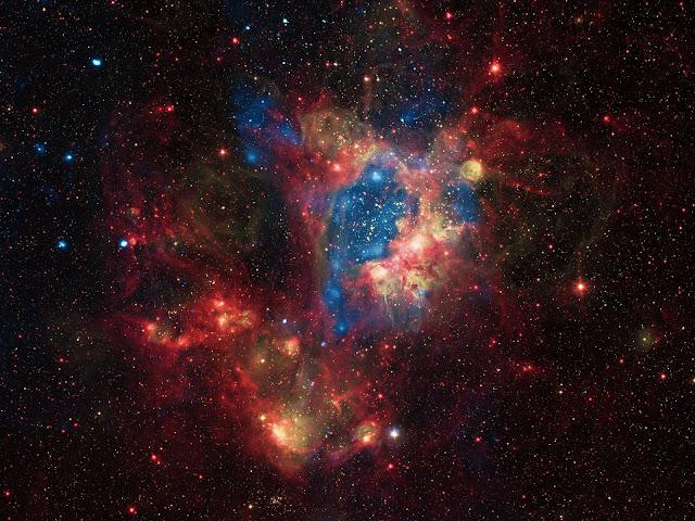 Superbolha de gases brilhantes a 160 mil anos-luz da Terra