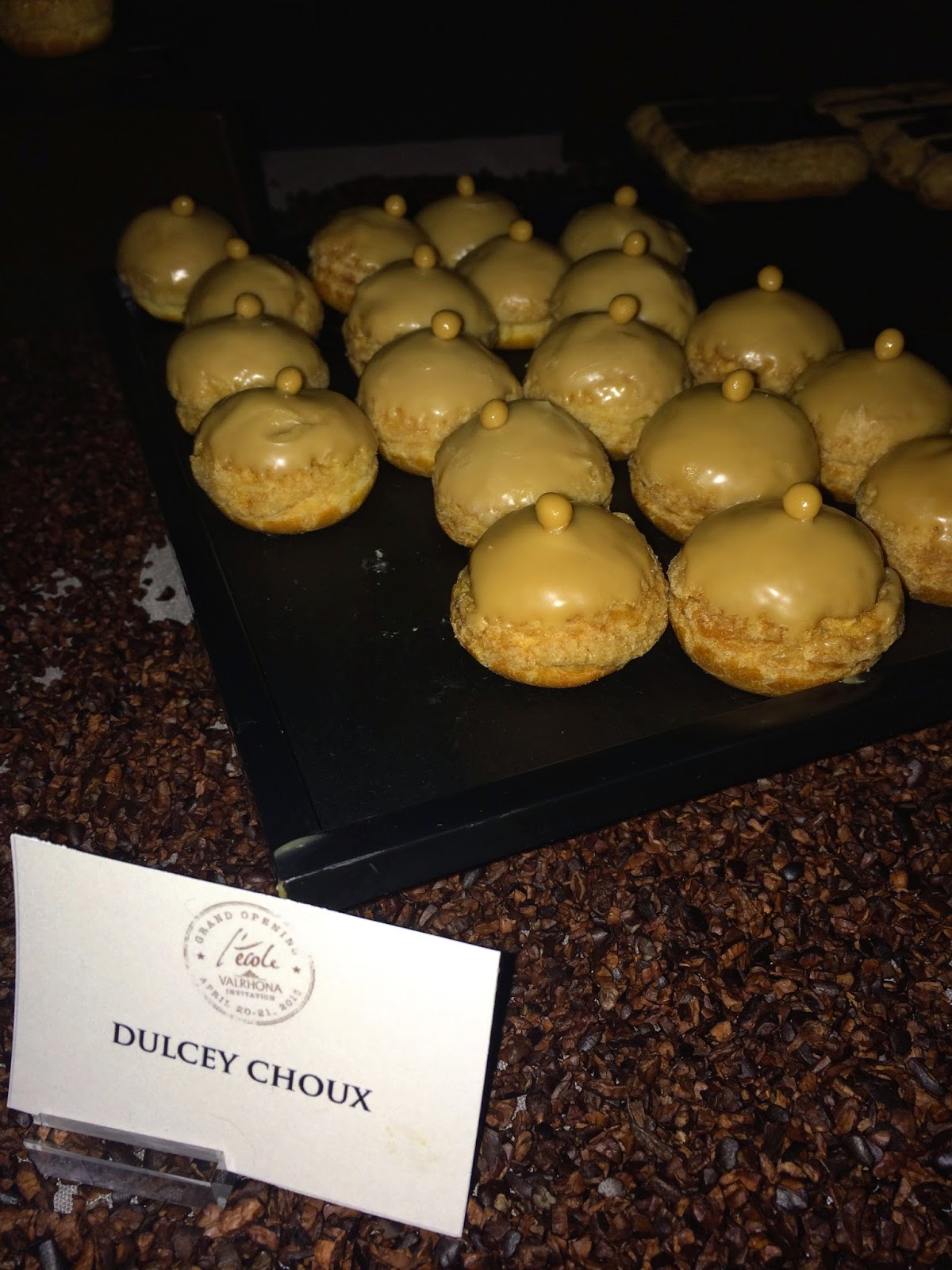 dulcey choux at Valrhona party