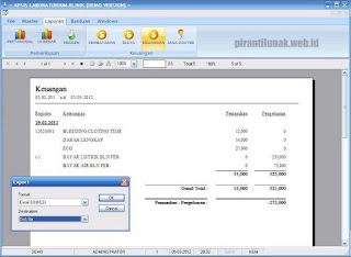 laporan keuangan sofware aplikasi laboratorium