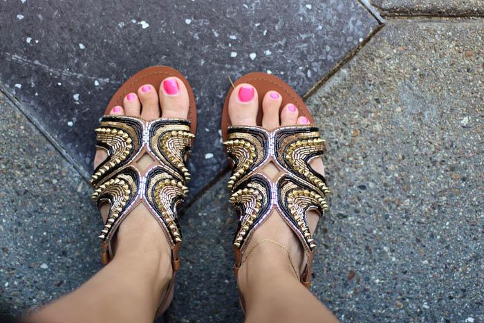 embellished asos sandals
