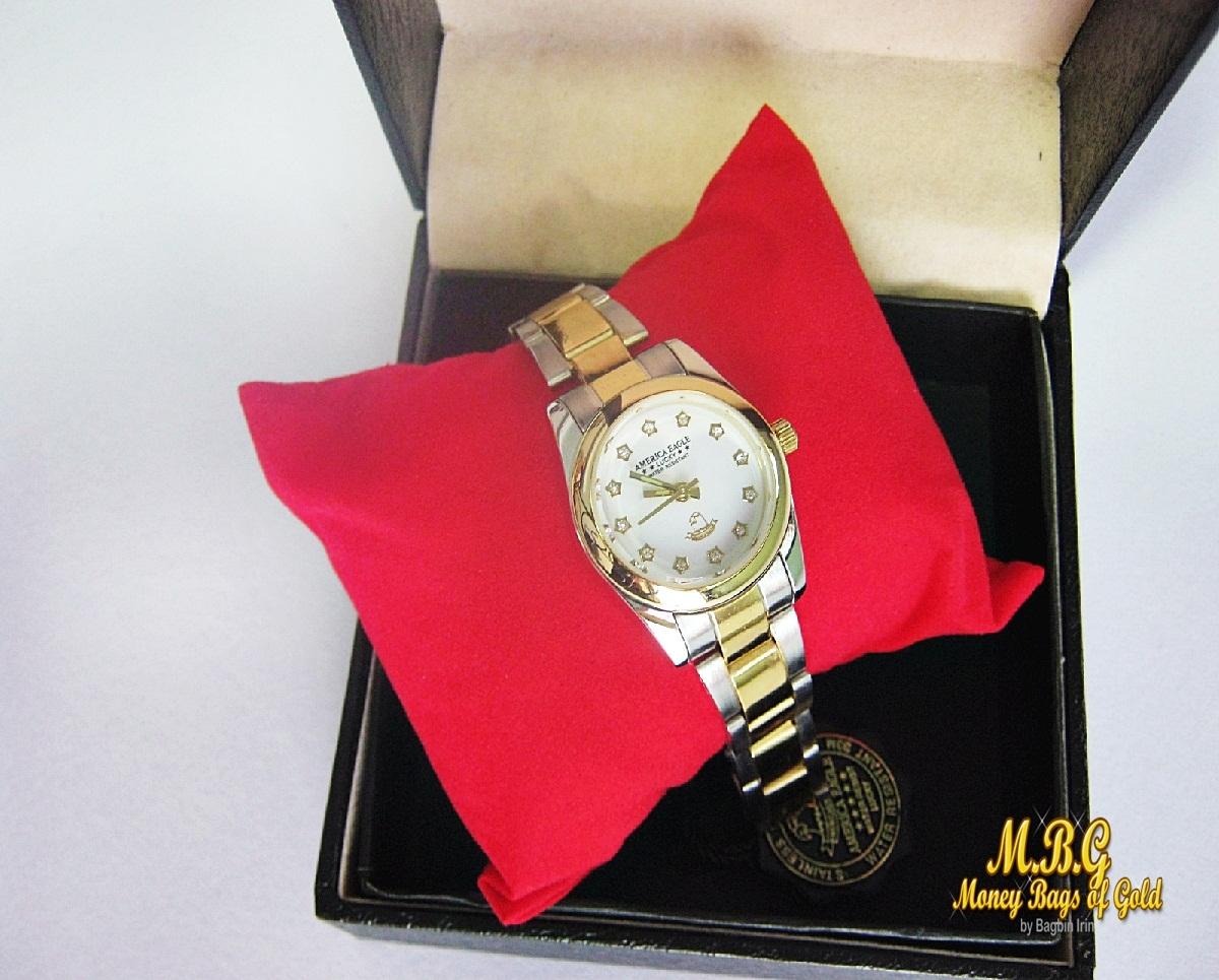 นาฬิกาข้อมือสุภาพบุรุษ-สตรี AMERICA EAGLE กันน้ำ