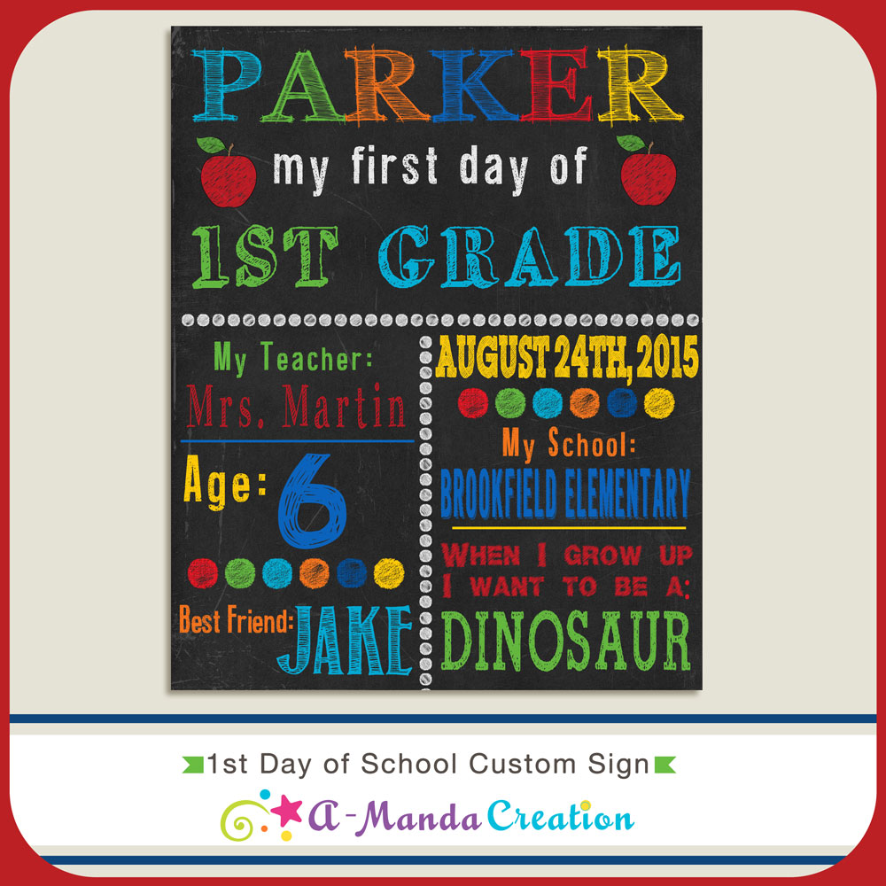 Nerdy image with first day of school sign free printable