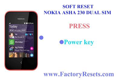 Soft Reset Nokia Asha 230 Dual SIM
