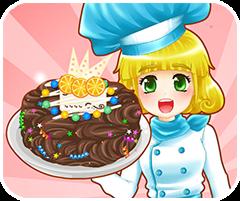Làm bánh kem socola, chơi game làm bánh online
