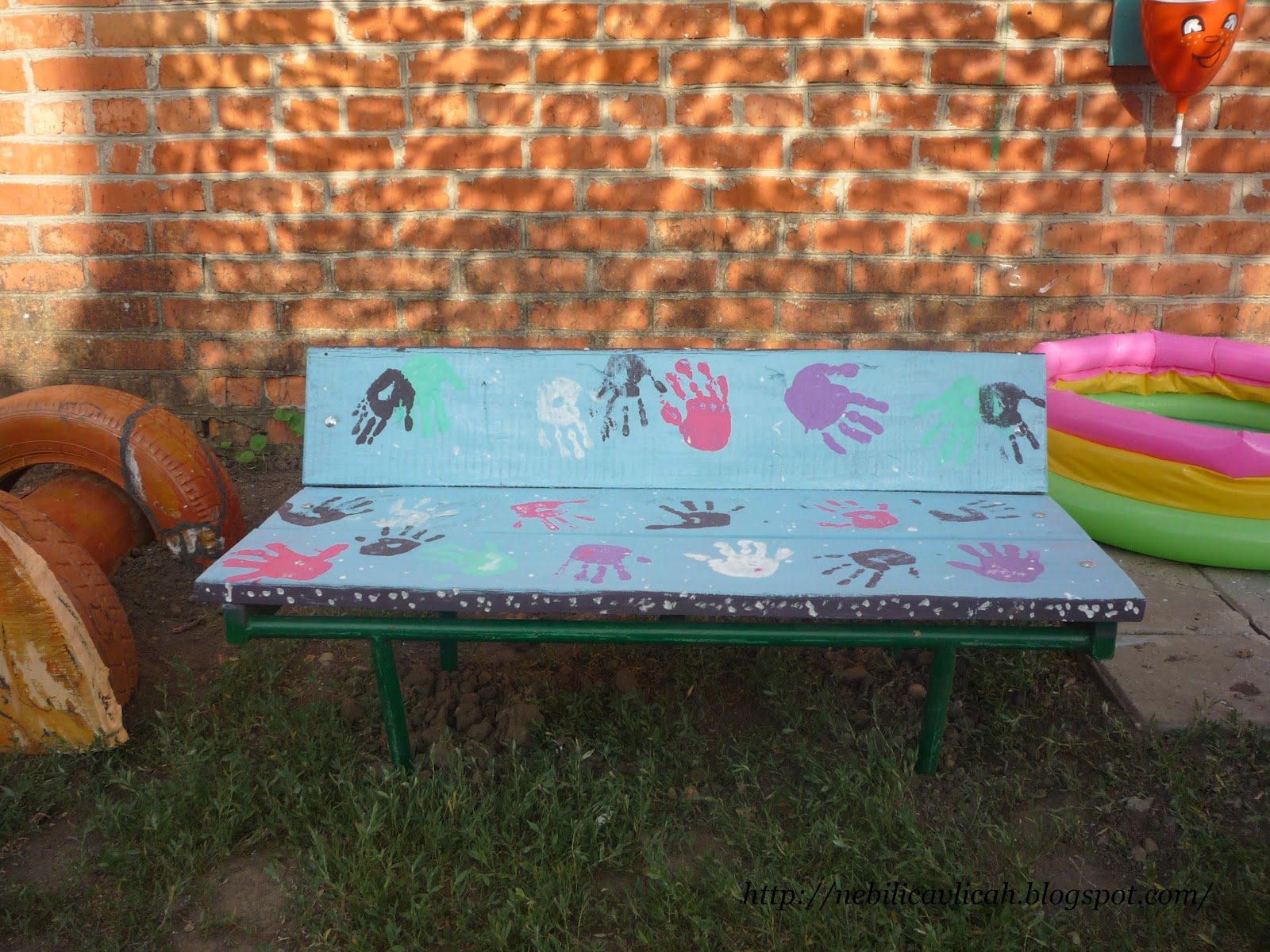 Рисунок на скамейке своими руками 77