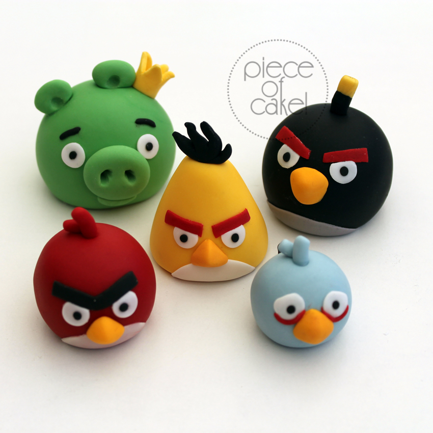 Angry birds cake toppers piece of cake for Angry birds cake decoration