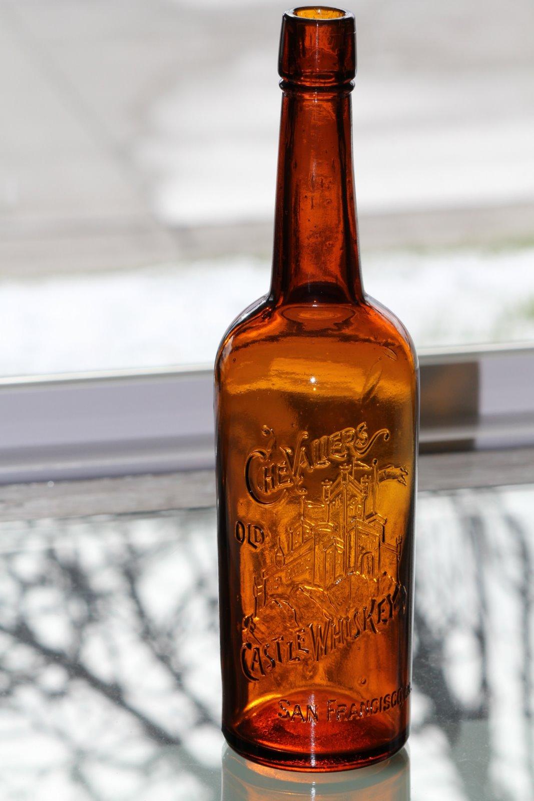 Chevaliers old castle whiskey utah antique bottle cliche chevaliers old castle whiskey biocorpaavc Gallery