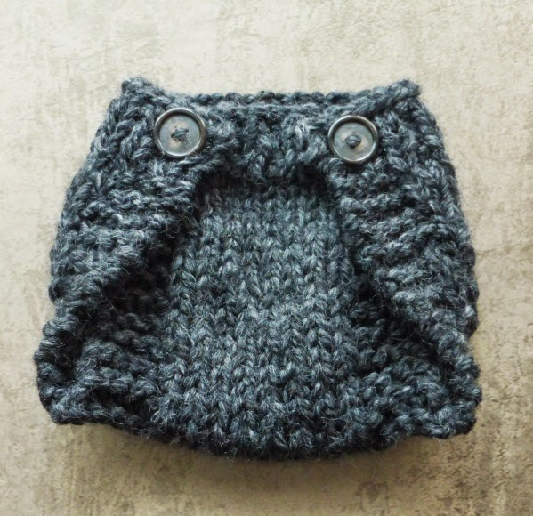 HAND MADE - RUKODELKY: Knitted Diaper Cover For A Newborn - Free Written Patt...