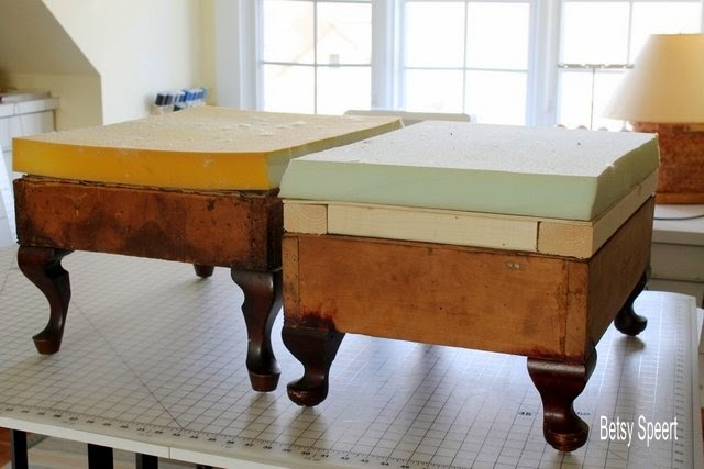 Betsy Speert\'s Blog: How To Upholster An Ottoman, chapter 2