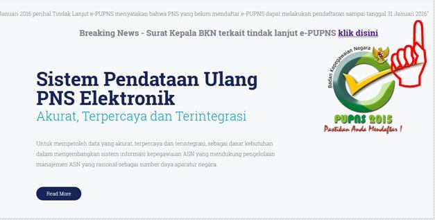 Batas Akhir Pendaftaran PUPNS 2015/2016 Diperpanjang sampai 31 Januari 2016