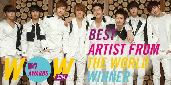 Super Junior MTV Italya�da ��D�nya�n�n En �yi Sanat��s� �d�l�n� Kazand� /// 22 Haziran 2014