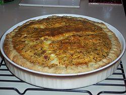 Recetas del Chef- Quiche de cebolla caramelizada y queso de cabra