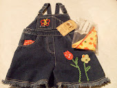 Size 5 Girls Denim Short Alls New