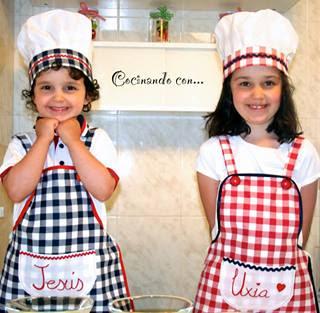 Las cositas de marga delantales y gorros de cocinero para - Delantales y gorros de cocina para ninos ...