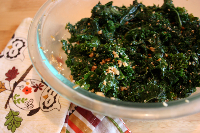 Housewife Fantasies: Emerald Sesame Kale Salad