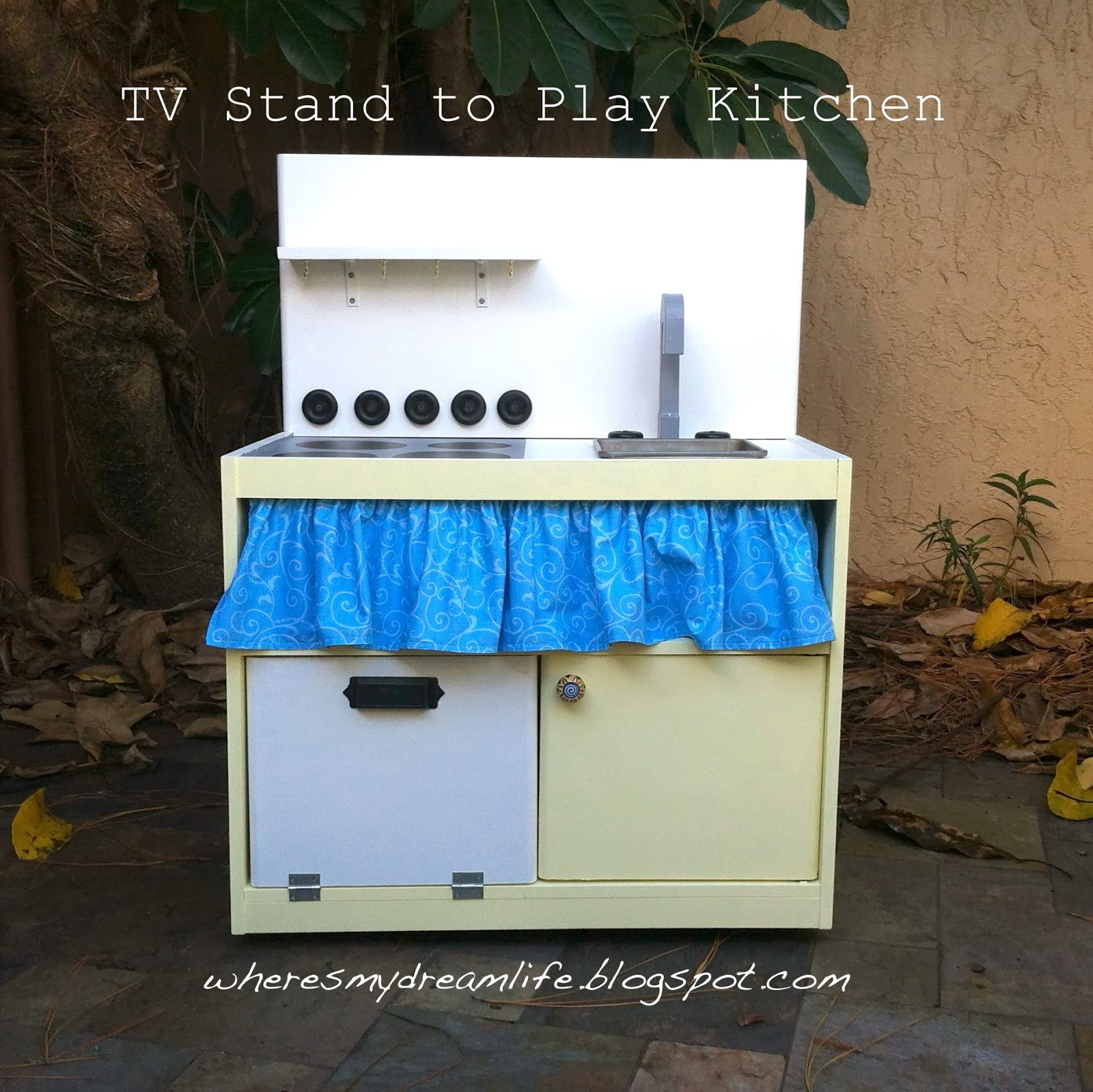 Where s My Dream Life Upcycled TV Stand to Play Kitchen
