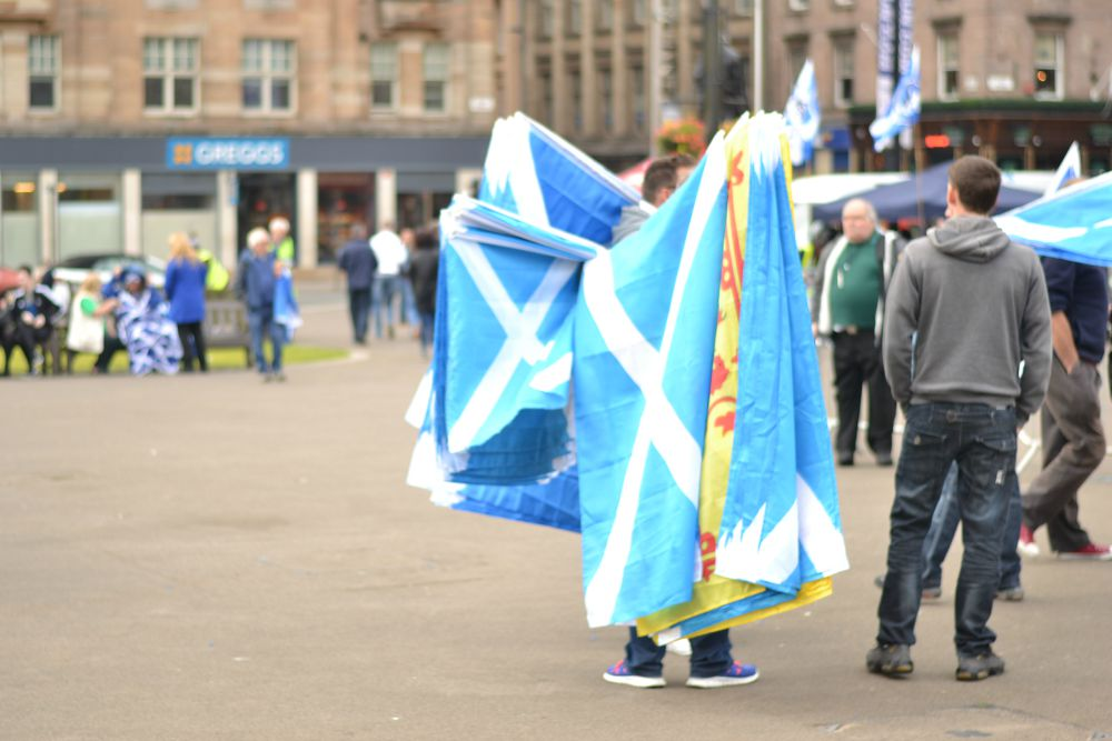 scotland scottish flags george square glasgow