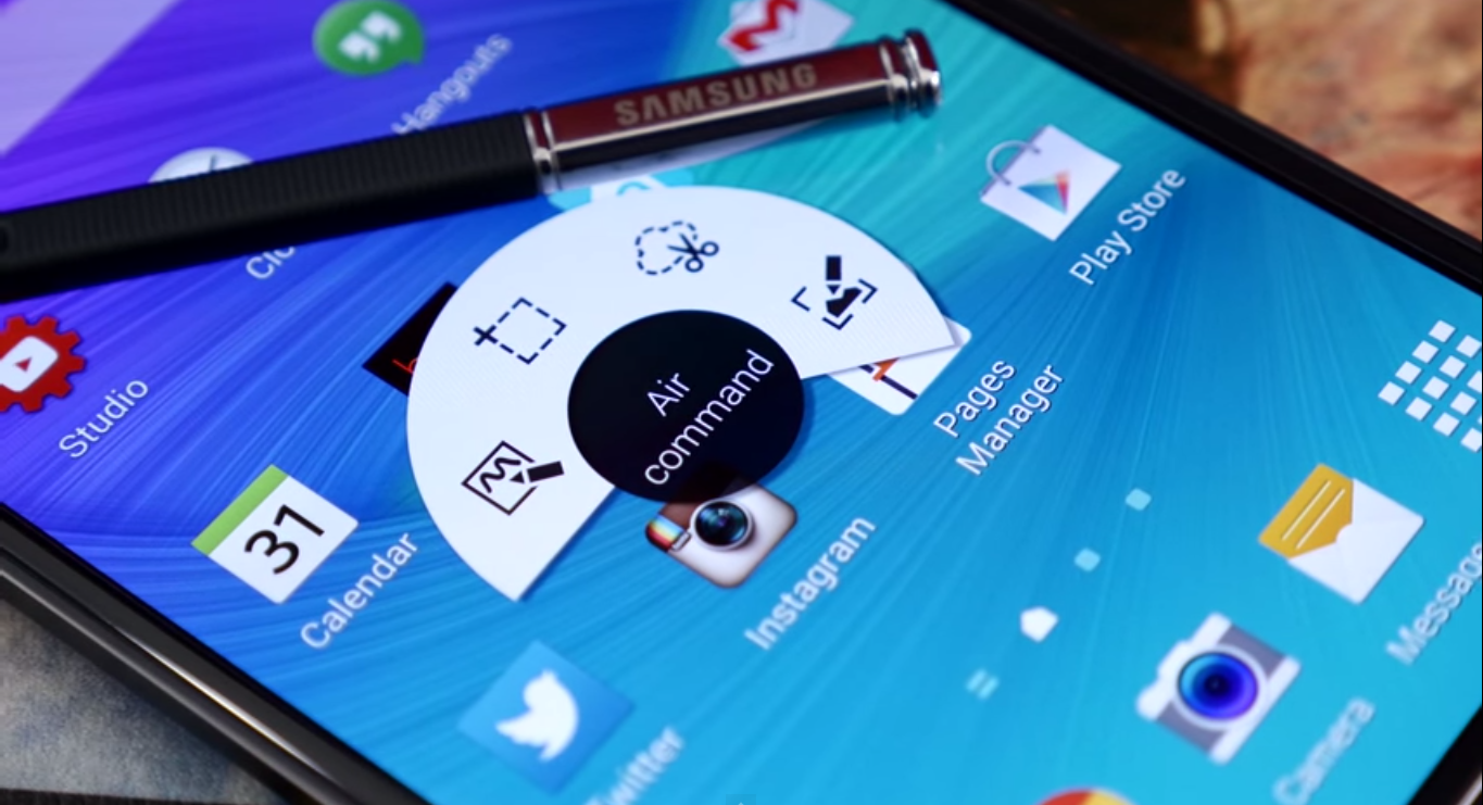 Samsung Galaxy Note 4:Air Command