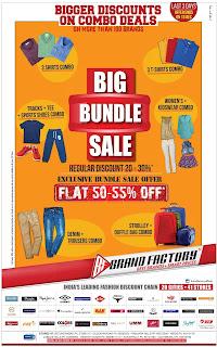 Brand Factory flat 50-55 offer | discounts