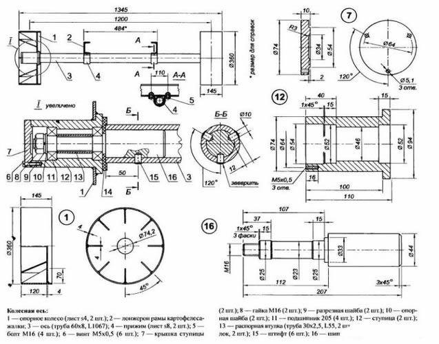 Мотоблок навесное оборудование своими руками чертежи
