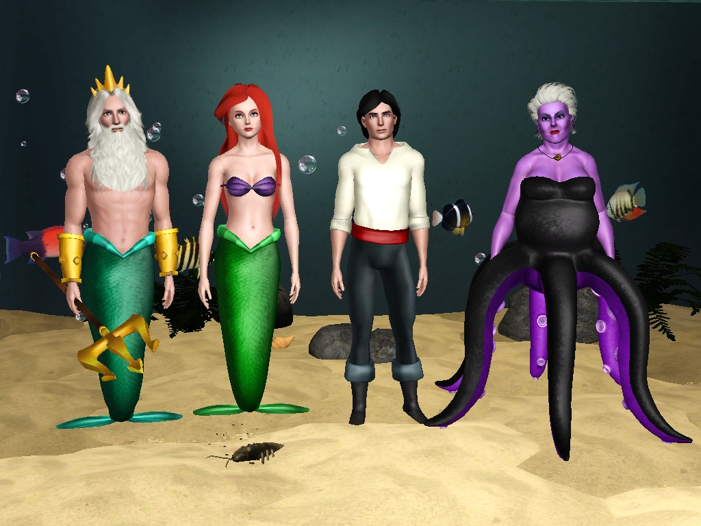 Sil Fantasy: The main characters from Walt Disney's The Little Mermaid