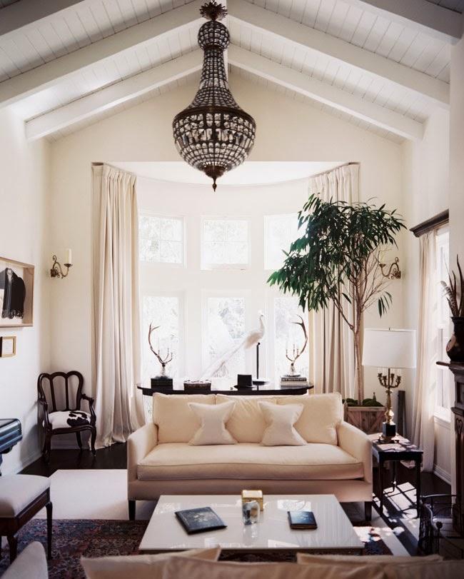decorar salon sencillo vintage clasico beige