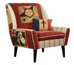 Poltrona inglese FANTE Patchwork COLLINS & COOPER