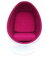 Modern upholstery pod chair