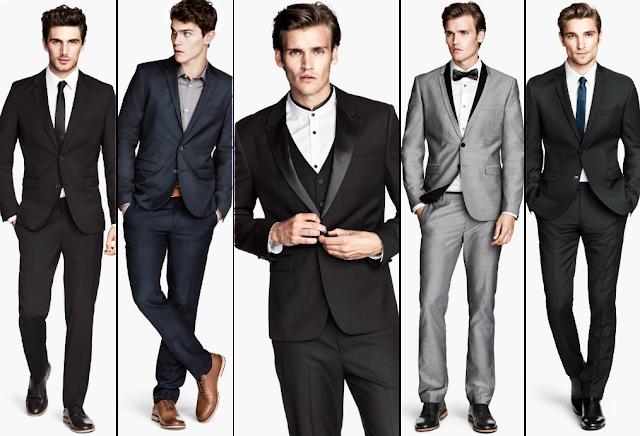 Propuestas de traje para hombre en Navidad. H&M