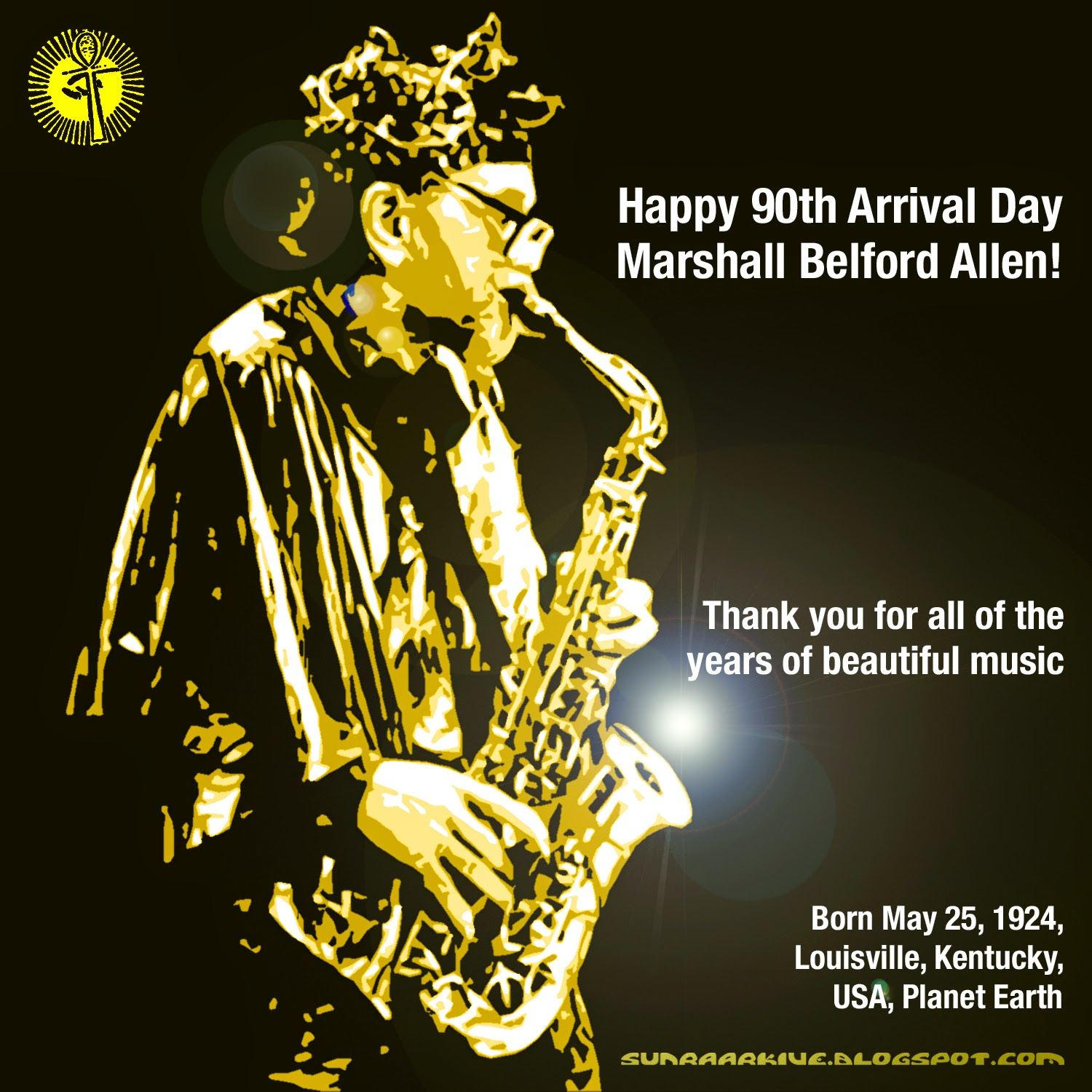 Happy 90th Arrival Day to the Sun Ra Arkestra's Marshall Belford Allen!