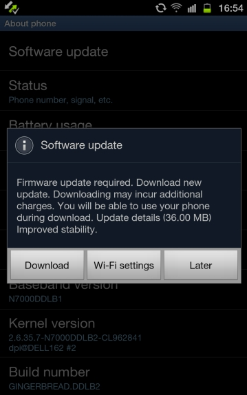 How to Update Guide to ICS for Samsung Galaxy Note (India), Kies Software