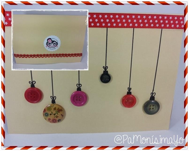 Tarjeta navideña botones para maestra @pamonisimayo