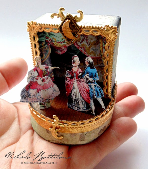 Ornate miniature theatre with tutorial - Nichola Battilana