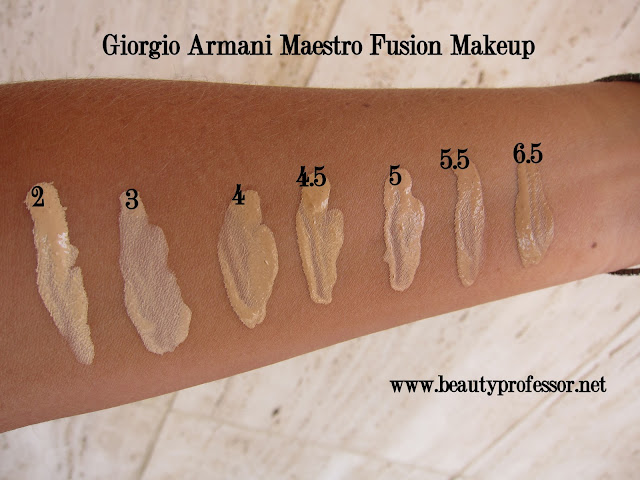 maestro foundation swatches